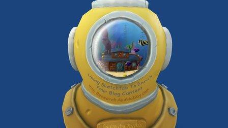 Aquarium in a helmet 3D Model