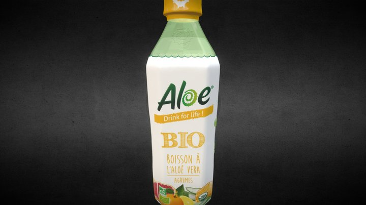 Aloe Bio 50cl Test3 Real Time - Orange 3D Model