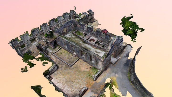 Annaberg Sugar Mill Ruin, St. John's, USVI 3D Model
