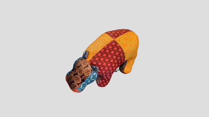 stuffed hippo 3D Model