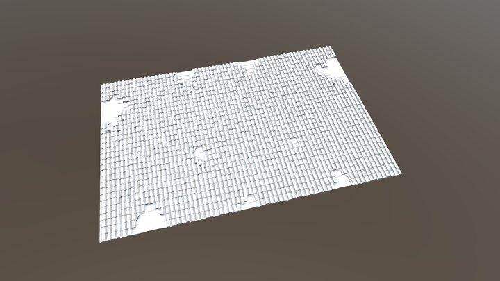 Solferino Ziegeldach Zerstoert Preview 3D Model