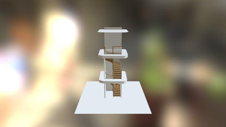 F�rslag 5 Vita st�ndare 3D Model