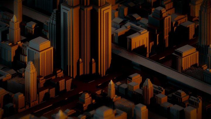 Capstone City 3D Model