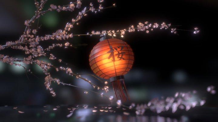 Japanese Festival Lamp 3D Model