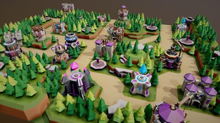 TARBO - Tower Defense 3D Model