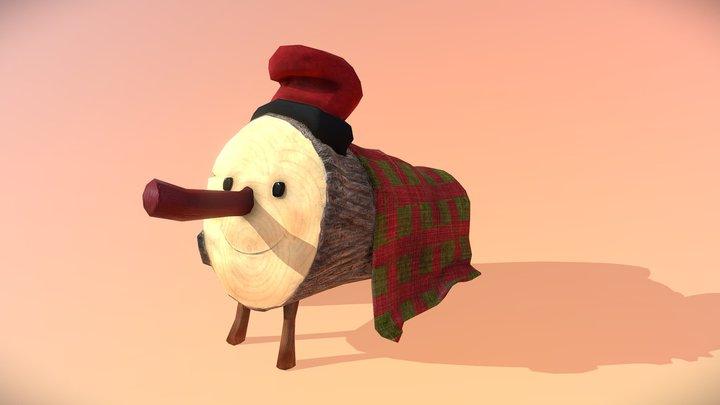 Tió de Nadal - Lowpoly 3D Model