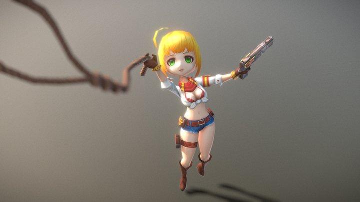 Casual RPG Character - 19 Miran 3D Model