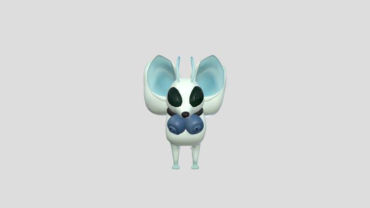 Alien kitsune 3D Model