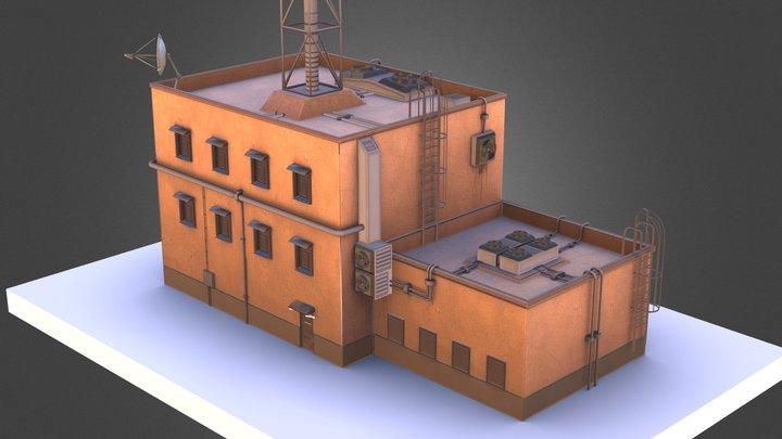 Futuristic ghetto building 3D Model