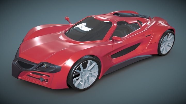 Axanos futuristic concept 3D Model