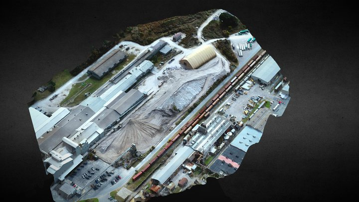 Gypsum Stockpiles 3D Model