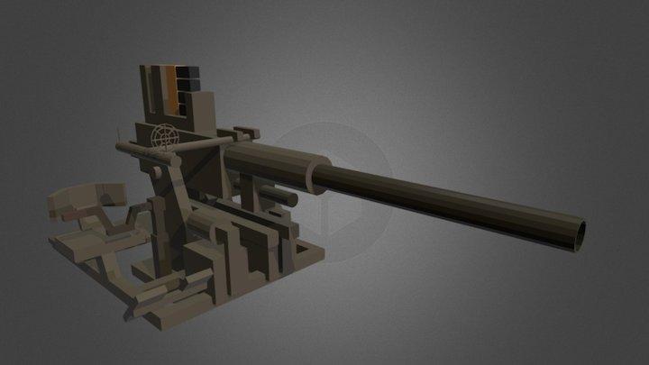 Minecraft - Bofors_40mm 3D Model