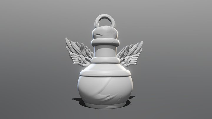 KeyChain Life Potion 3D Model