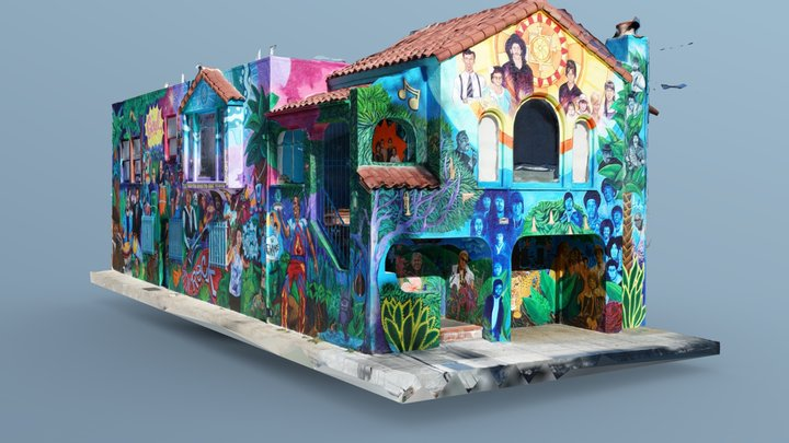 "#5 - ""Take it From the Top: Latin Rock"" House 3D Model"