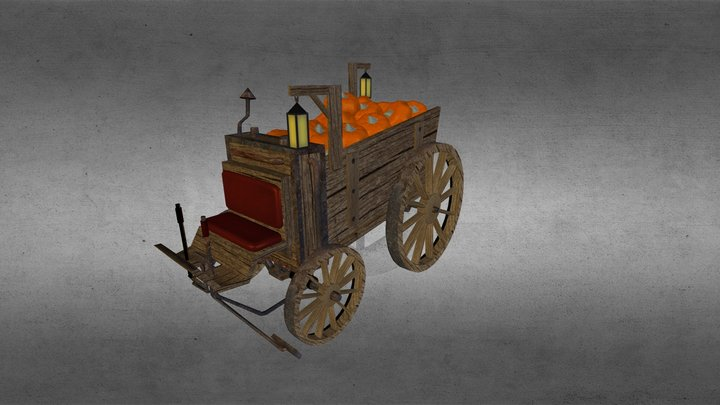 pumpkin carriage 3D Model