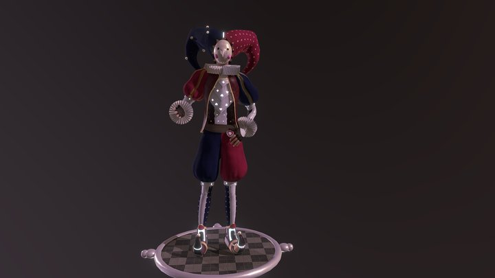 Sci-Fi Circus Challenge: Silly Trevor 3D Model