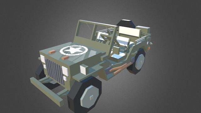 Minecraft - Willys_MB (Jeep) 3D Model
