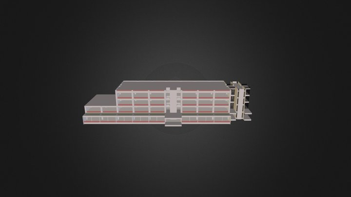 専門棟Ⅱ-1 3D Model
