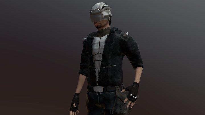 Cyberpunk Guard 3D Model