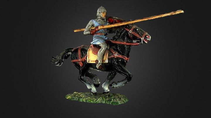 Elastolin Norman knight with lance 3D Model