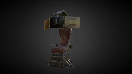 Sci-Fi Throne 3D Model