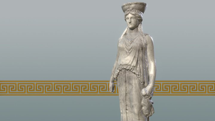 Standing Woman - Low Poly 3D Model