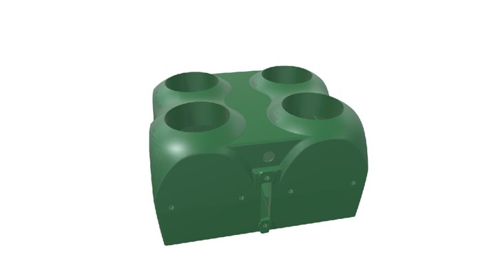 4 Kernel Array Housing Assembly 3D Model