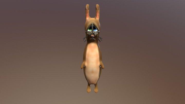 Sad Bunny 3D Model