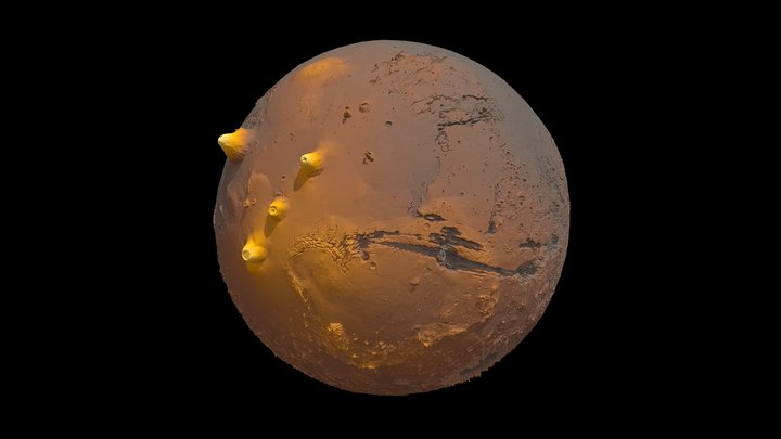 Mars Terrain Model 3D Model