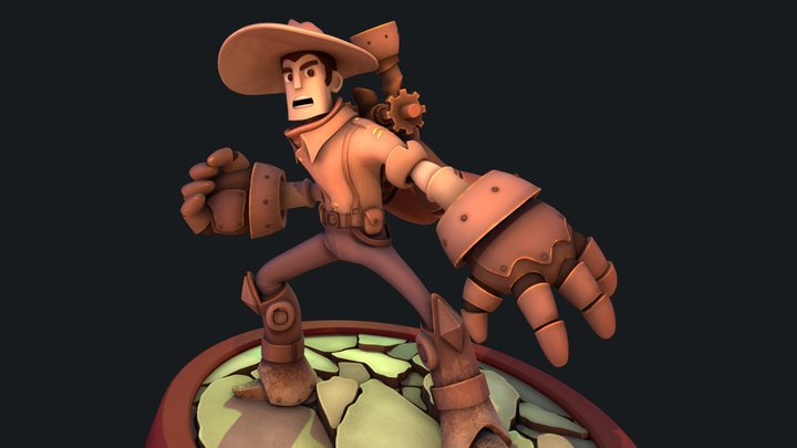 Steam Cowboy 3D Model
