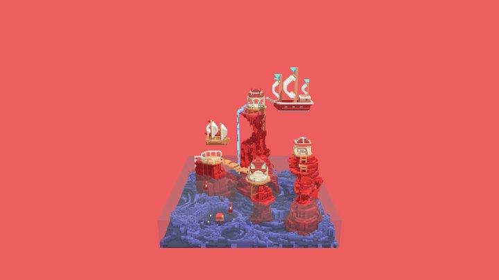 sea and sky 3D Model
