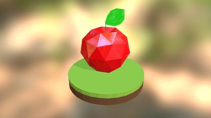 Apple Low Poly #01 3D Model