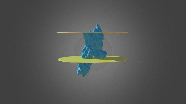 Serotonin: Chimeric Protein of 5-HT2B-BRIL 3D Model