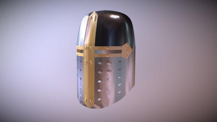 Crusader Great Helmet 3D Model