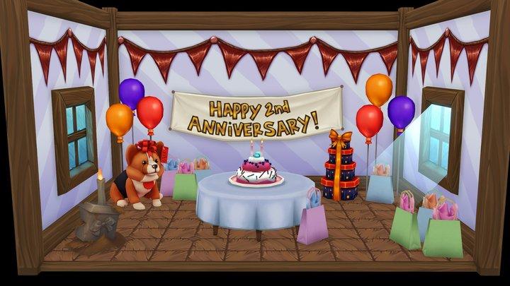 Handpainter's Guild 2nd Year Anniversary! 3D Model