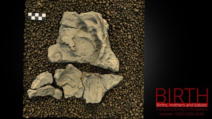 Neolithic human footprint 3D Model