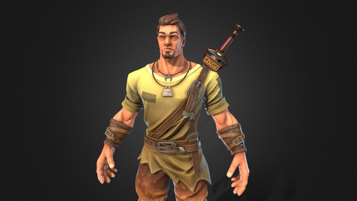 Stylised Male Character 3D Model