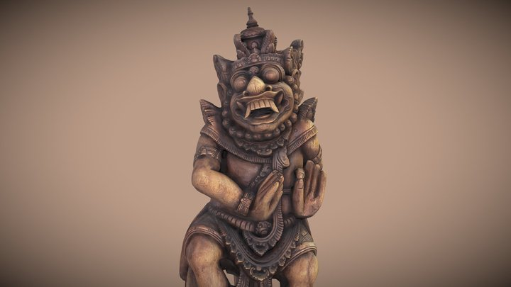 Barong - Bali Statue (photogrammetry) 3D Model