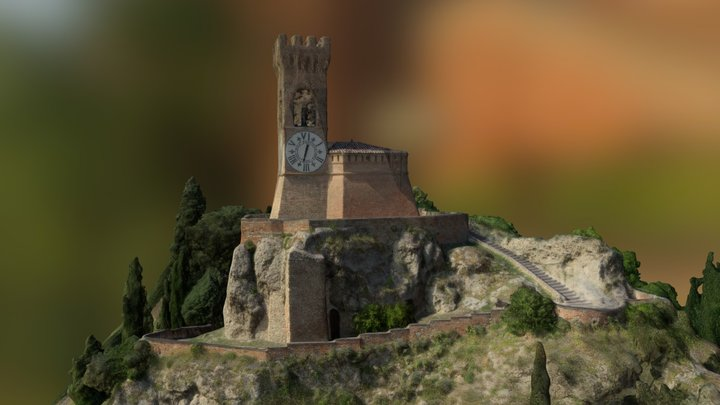 The Clock Tower of Brisighella 3D Model