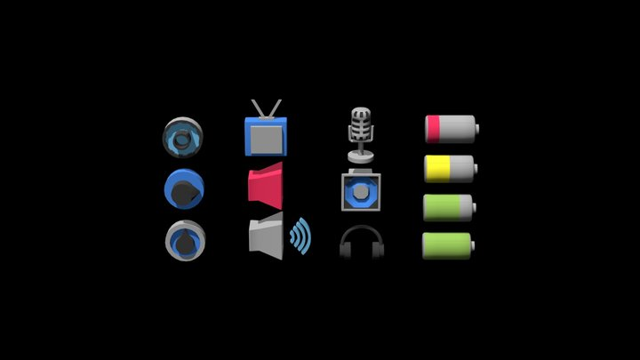 3D icons /Sound 3D Model