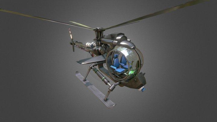 Trotter Fly chopper copter 3D Model