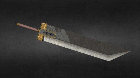 Final Fantasy 7 - Buster Sword 3D Model