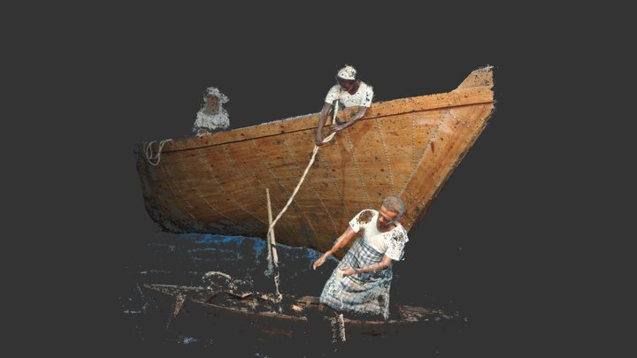Fishermans in bandarabbas museum 3D Model