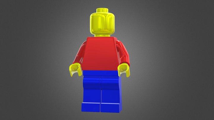 Legoman de lego 3D Model