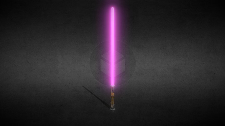 Purple Blade Lightsaber (Star Wars) 3D Model