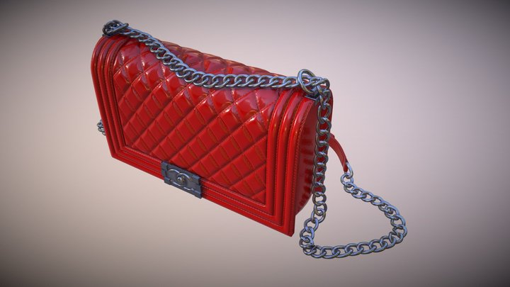 Chanel Purse Red 3D Model