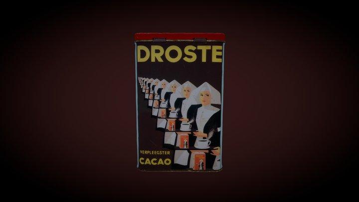 Vintage Dutch Tin of chocolate powder 3D Model