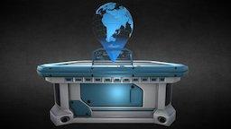 Holographic War Strategy Table #Blender 3D Model