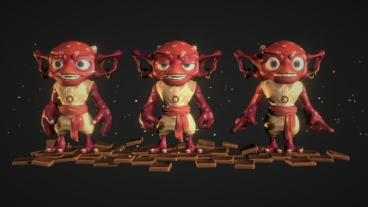Skylanders - Greeble Fanart 3D Model