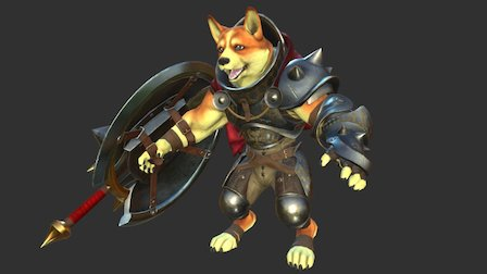 Spikey, the Corgi Knight 3D Model